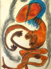 """From Thornton Dial Sr.'s permanent collection """"Thoughts on Paper"""" on display through December at the Gadsden Arts Center & Museum in Quincy."""