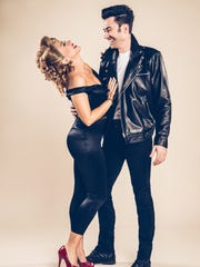 "Diana DeGarmo and Ace Young in Studio Tenn's ""Grease."""