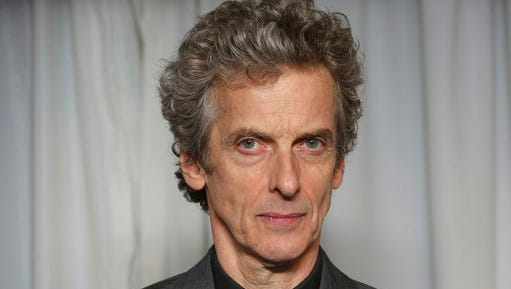 "FILE - This is a Sunday, 29 March, 2015   file photo of British actor Peter Capaldi as he poses for photographers upon arrival for the 20th Jameson Empire Film Awards at the Grosvenor Hotel in central London. After three seasons of zooming through space and time, Peter Capaldi is preparing to hang up his sonic screwdriver and depart ""Doctor Who."""