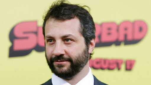 """FILE - In this Monday, Aug. 13, 2007, file photo, Judd Apatow arrives at the premiere of """"Superbad"""" in Los Angeles. Apatow likes nothing more than topping his own joke: The filmmaker is putting together a sequel to his best-selling """"Sick In the Head,"""" which featured conversations with Mel Brooks, Jerry Seinfeld and other comedians. The new book could only be called """"Sicker In the Head,"""" and includes Norman Lear, Kevin Hart and Whitney Cummings. According to Random House, which announced the book Wednesday, April 19, 2017, no release date has been set."""