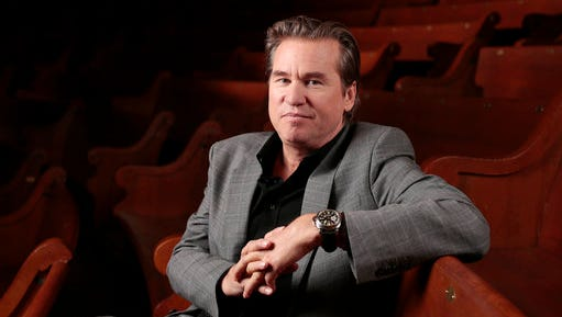 """FILE - In this Jan. 9, 2014 file photo, Val Kilmer poses for a portrait in Nashville, Tenn. Kilmer wrote on Reddit April 26, 2017, that he's had """"a healing of cancer."""""""