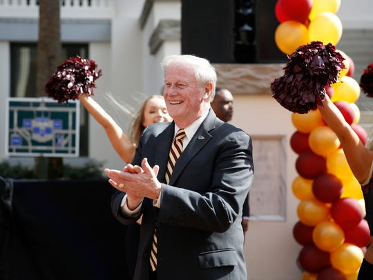 Florida State University President John Thrasher during FSU Day festivities at the capitol Feb 6.