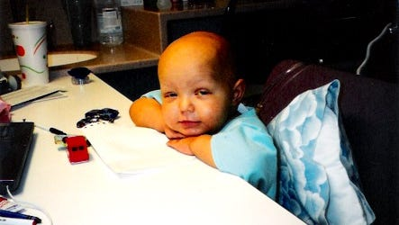 Bailey Johnson was initially diagnosed with stage IV neuroblastoma at 9 months old.