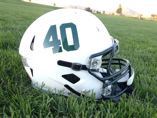 The James Buchanan football team will wear the No. 40 on their helmets for the remainder of the 2016 season to honor Oscar Erkes, who was injured against Mifflin County.