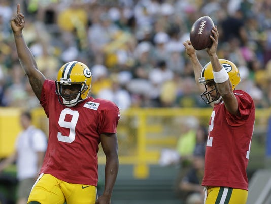 Marquise Williams, Aaron Rodgers