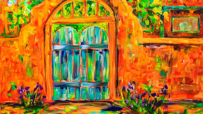 Sally Quillin's acrylic painting of Josephina's Gate. Quillin will teach an art class, as part of Get ArtRageous!, on Feb. 7.