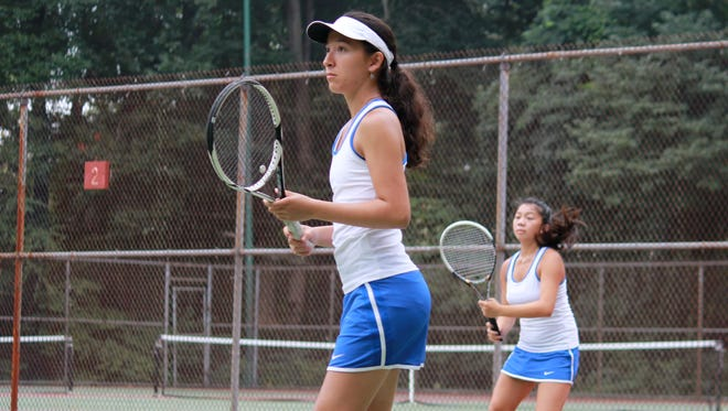 Holmdel's Stephanie Pugh and Emily Kong won the 2014 Monmouth County Tournament second doubles championship on Sunday.