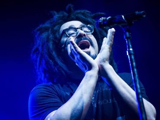 Counting Crows and frontman Adam Duritz performs at Ak-Chin Pavilion in Phoenix, September 13, 2016.