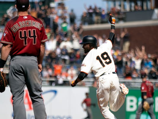 MLB: Arizona Diamondbacks at San Francisco Giants