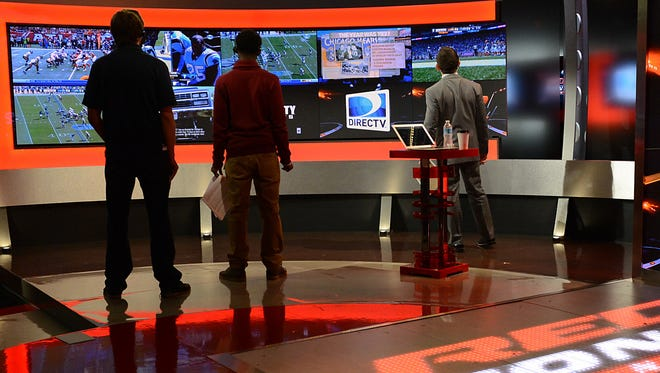 The set of DIRECTV's NFL Sunday Ticket's RED ZONE Channel at DIRECTV's Los Angeles Broadcast Center.