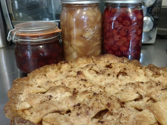 Canning pie filling in the summer can make for delicious