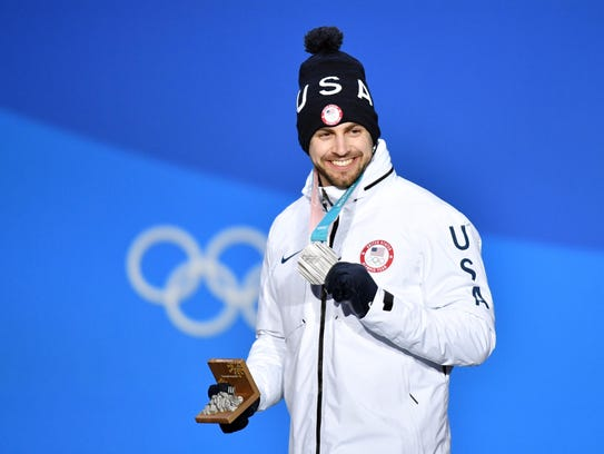 Chris Mazdzer took silver in the men's singles luge.