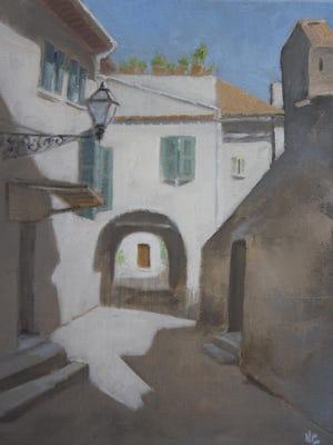 """""""Little Street, Serrone,"""" by Nancy Campbell."""