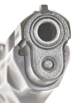 Illustration of a handgun.