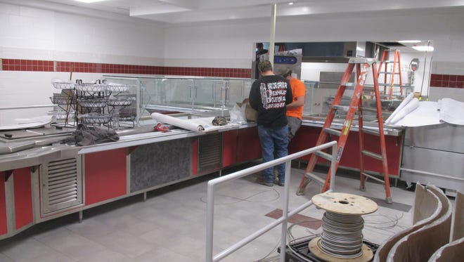 The cafeteria in the Spencer-Van Etten High School is still under construction, but the end is in sight. It is scheduled to be ready in January when the students return. All of the kitchen equipment dated back to when the building was first constructed in the 1970s and one piece or another failed on a regular basis, according to SVE Superintendent Joe Morgan.