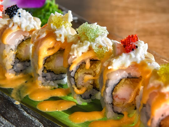 A house special Hajime Roll is ready for service Wednesday,