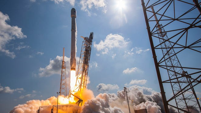 On June 15, 2016, a SpaceX Falcon 9 blasted off from Cape Canaveral Air Force Station's Launch Complex 40 with a pair of all-electric communications satellites  owned by ABS and Eutelsat.