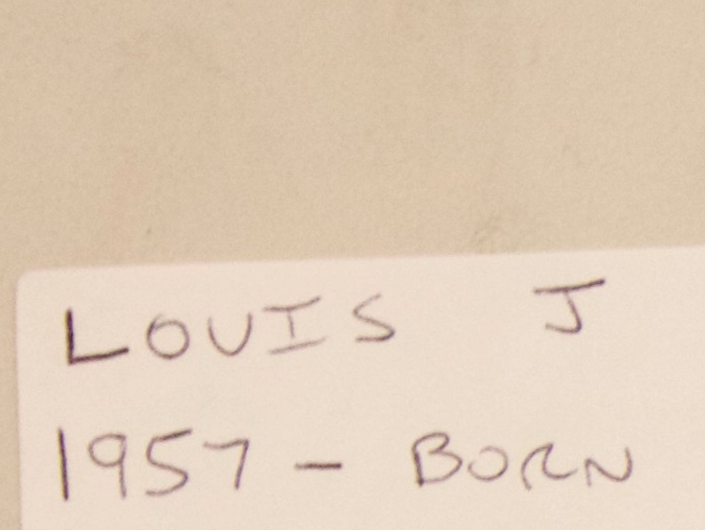 A letter from Louis Spina shows his birth date