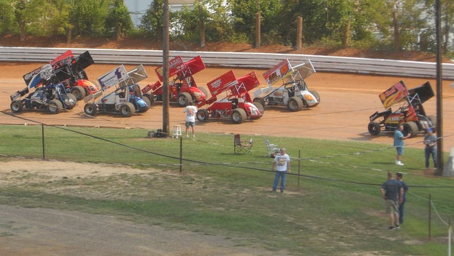 The sprint cars are seen here in action at Port Royal Speedway. FILE PHOTO