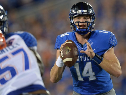Patrick Towles at Kentucky vs Florida football game