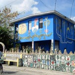 Fuster House is located in Fusterlandia in Cuba. It is a neighborhood where the artist Jose Fuster created mosaic art on over 50 buildings.
