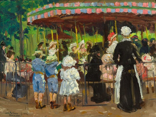 """Jane Peterson's """"Carousel in the Park."""""""