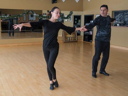 Gabe Zawaideh and instructor Yuliya Lukina.