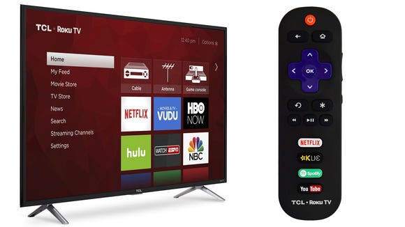 You can get this 49-inch TCL smart TV for under $350—its lowest