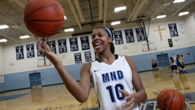 Naomi Davenport joins Mel Thomas and two others on the 1,000 points club at MND.