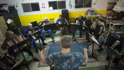Westmont Accordion Club and conductor Joanne Arnold Darrow