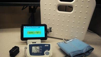 Good Samaritan Society uses LivingWell@Home technology like the HomMed touch tablet to read vitals digitally.