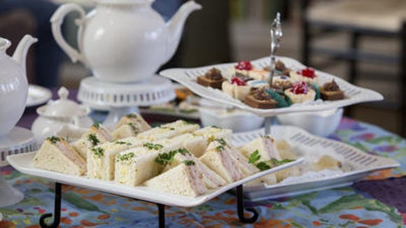 Afternoon tea at the Centreville Cafe is served in the house's former parlor. Diners get an assortment of finger sandwiches, scones and sweet and savory treats. The cost is $24.95 per person.