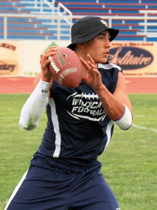 Headlight File Photo   Senior quarterback Dante Urrea is expected to lead the Wildcat Football team in 2015.