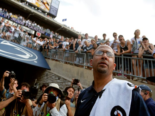 New Penn State head football coach James Franklin waits in the south end zone tunnel for his players at the end of a game at Beaver Stadium on Saturday, Sept. 6, 2014. Penn State defeated Akron 21-3 in new head coach James Franklin's first regular-season home game. Chris Dunn -- Daily Record/Sunday News