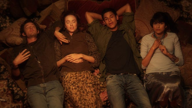 """Evan Williams, Elyse Levesque, Bronson Pelletier and Tinsel Korey star in the upcoming indie comedy """"Fishing Naked."""""""