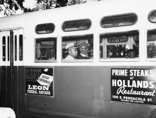 The most iconic photo of the 1956 Tallahassee bus boycott
