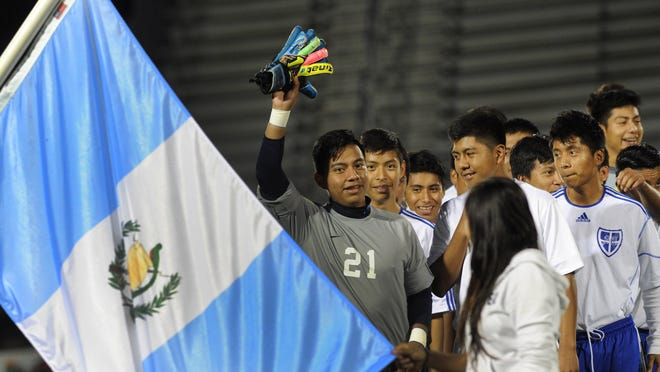 Sussex Central High School soccer players from Guatemala participated in a ceremony during an annual Hispanic and World Culture Night game on Oct. 16.