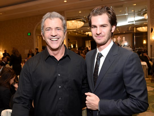 Mel Gibson and Andrew Garfield at the AFI Awards on