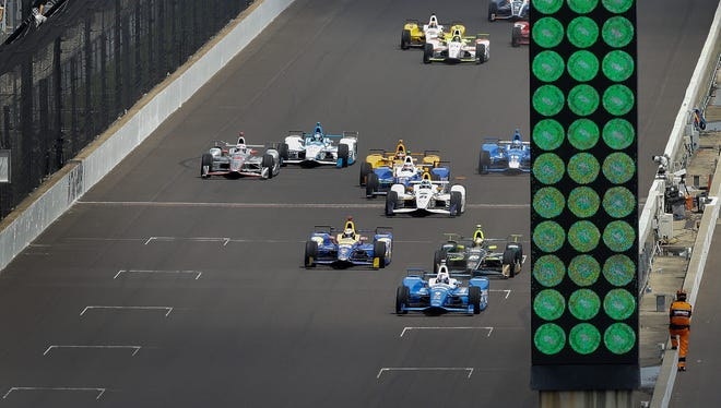 Thirty-three drivers take the green flag on the first lap of Sunday's Indianapolis 500.