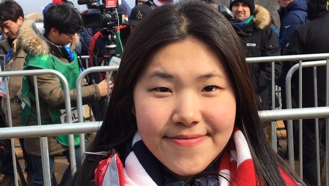 """Kim Hyun-joo, a 26-year-old from Seoul who worked as a media liaison at the Winter Olympics in Pyeongchang, said of North Koreans: """"These people didn't do anything wrong, they just live there. Everyone deserves to be happy and deserves to be free."""" (Joe Rexrode/The Tennessean)"""