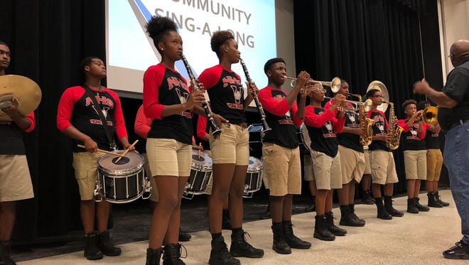 The Northside High School band surprised everyone at the opening event of the Feel Good Festival Aug. 1.