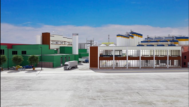A new building planned at the Genesee brewery campus on St. Paul Street.