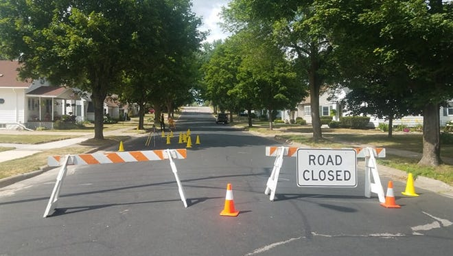 Roads near the intersection of Knox Street and First Avenue are closed following a hit and run, in which a pedestrian was left in serious condition.