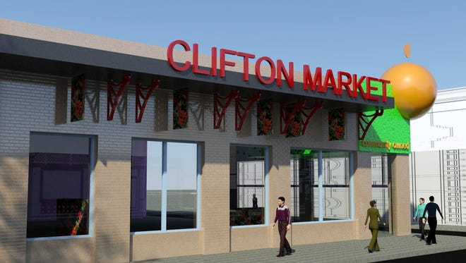 """Muller Architects is working with the Clifton Market development team on a new design for the store planned at 319 Ludlow Ave. Paul Muller, the firm's owner, said the design is supposed to be reflective of a """"21st century grocer that's fun."""""""