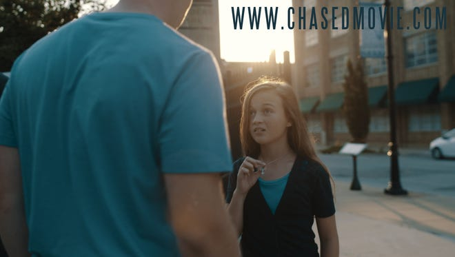 """A scene from the Christian film, """"Chased."""" The 30-minute movie has been pulled from YouTube."""
