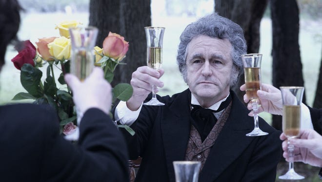 "In ""Hillary's America: The Secret History of the Democratic Party,""  an actor playing President Andrew Jackson raises a toast."