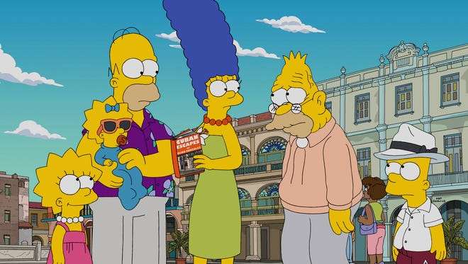 The Simpsons take a trip to Havana in a new episode on Fox.