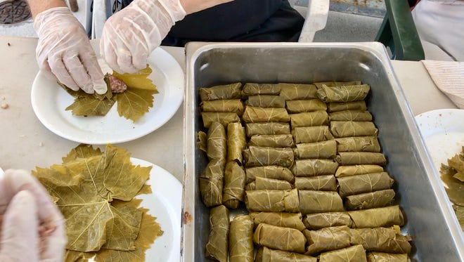 More than 10,000 dolmathes (stuffed grape leaves) will be served at this weekend's Greek Fest in south Fort Myers.