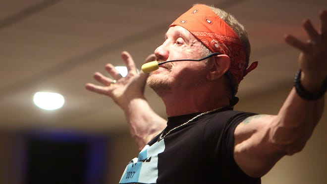 Former professional wrestler Dallas Diamond Page holds a DDP Yoga workshop in Union on April 30.