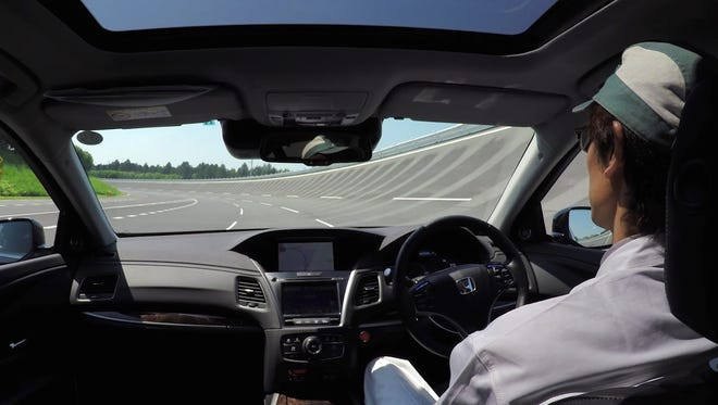 A test drive shows Honda's self-driving vehicle technology in action.